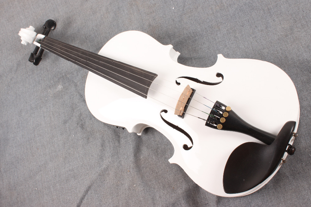 ONE 4 string 4/4 Violin Electric Violin Acoustic Violin Maple wood Spruce wood Big jack  white   color one red 4 string 4 4 violin electric violin acoustic violin maple wood spruce wood big jack color