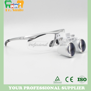 Image 4 - D  loupes  magnifying glasses dental and surgical loupes with head light packed in aluminium box
