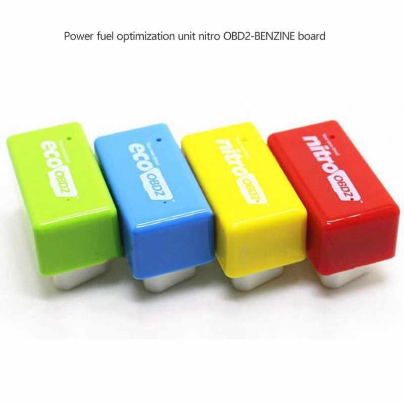 1 PC ECO OBD2 économie puce Tuning Box livraison directe universelle voiture puissance mise à niveau carburant économiseur 15% carburant économiser 4 couleurs en option