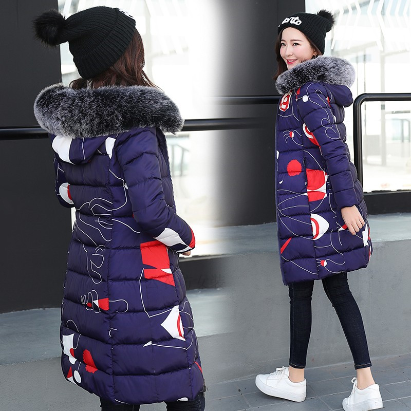 2018 New Women Down Casual Winter Coats Fur Collar Plus Size 2 face Dressing Hooded Parka Coat Long Style Womens Jackets A1169