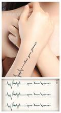 Body Art Waterproof Temporary Tattoos For Women And Men 3d Letter Design Small Tattoo Sticker HC1014