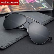 Raydem marca hombres gafas de sol óculos de sol Do Vintage polarizadas de aluminio piloto gafas de sol lentes revestimiento sombras parágrafo hombres