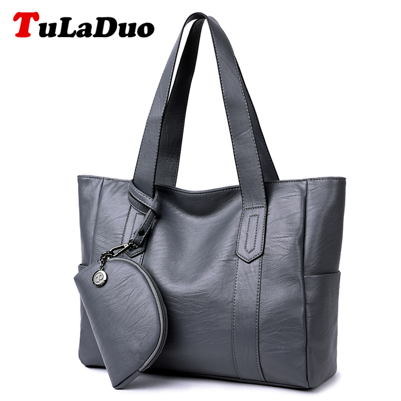 Brand New Women Casual Tote Handbags High Quality PU Leather Top-Handle Bags Ladies Large Capacity Shoulder Bags Purse Big Bag насосная станция unipump auto jsw 55 50