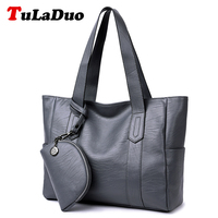Brand New Women Casual Tote Handbags High Quality PU Leather Top Handle Bags Ladies Large Capacity