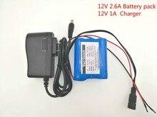 12 V 2600 mAh 18650 Li-ion batería Recargable para la Cámara de CCTV $ number A Cargador de Baterías 12.6 V 1A
