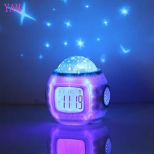 Image 3 - Sky Star Children Baby Room Night Light Projector Lamp Bedroom Music Alarm Clock S08 Wholesale&DropShip