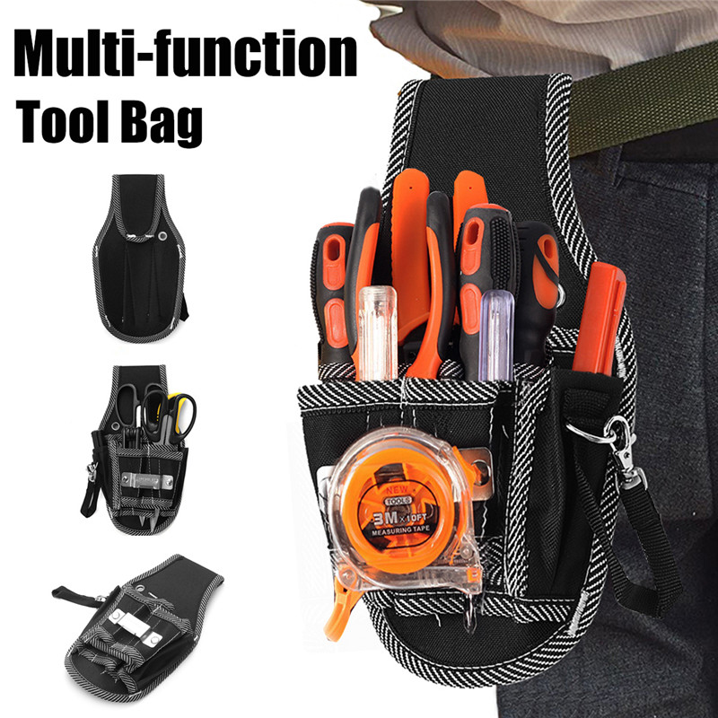 Professional 9 In 1 Screwdriver Kit Holder Portable Nylon Fabric Tool Bag Electrician Waist Pockets Tool Belt Pouch Bag