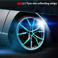 1 Set 1cm*45m Car Wheel Strips Stickers Decals Reflective Rim Tape Bike Motorcycle Car Styling Refitting DIY All Size