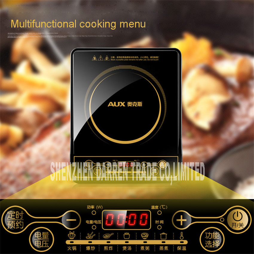 New Electric magnetic Induction cooker household special waterproof oven mini small hot pot stove kitchen cooktop 220V CA2007G dmwd electric induction cooker waterproof high power button magnetic induction cooker intelligent hot pot stove 110v 220v eu us