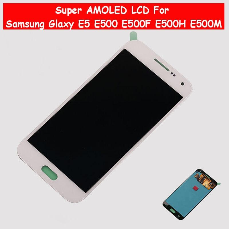 Super AMOLED LCD For Samsung Glaxy E5 E500 E500F E500H E500M LCD Display Touch Screen Digitizer E500 LCD AssemblySuper AMOLED LCD For Samsung Glaxy E5 E500 E500F E500H E500M LCD Display Touch Screen Digitizer E500 LCD Assembly