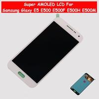 Super AMOLED LCD For Samsung Glaxy E5 E500 E500F E500H E500M LCD Display Touch Screen Digitizer E500 LCD Assembly