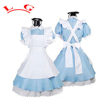 L G New Alice In Wonderland Party Cosplay Costume Anime Sissy Maid Uniform Sweet Lolita Dress Adult Halloween Costumes For Women