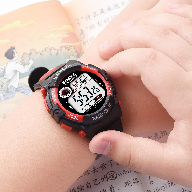 Дети% 27 Часы Водонепроницаемость Спорт Неделя Будильник Электронные Часы Для Детей Anti-Shock Reloj Deportivo Дети% 27 Цифровые Часы