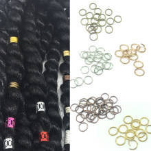20pcs/lot hair braid dreadlock bead cuff clip Braid Hoop Circle approx 10mm inner hole(China)