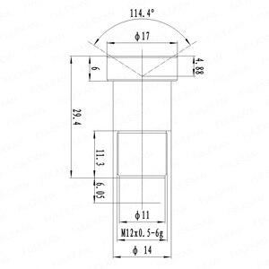 Image 5 - 4 k lente 12 megapixel fixo lente m12 5mm 110 graus 1/1.7 polegada para imx226 imx178 4 k ip cctv câmera ou câmera de ação 4 k