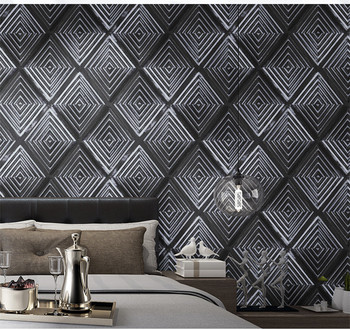 3d Wood Grain Mural Wallpaper Simple Line White Black Wall Paper Decor for Living Room Background Wallcovering papel de parede