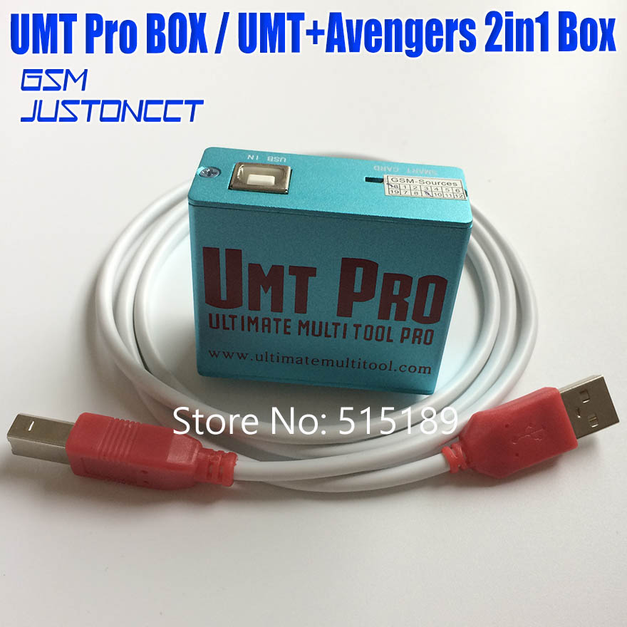 2019 date 100% d'origine UMT Pro boîte UMT + Avengers 2in1 boîte avec 1 câbles USB