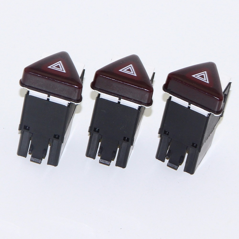 3pcs New Red Alarm Double Flash Light Switch Emergency