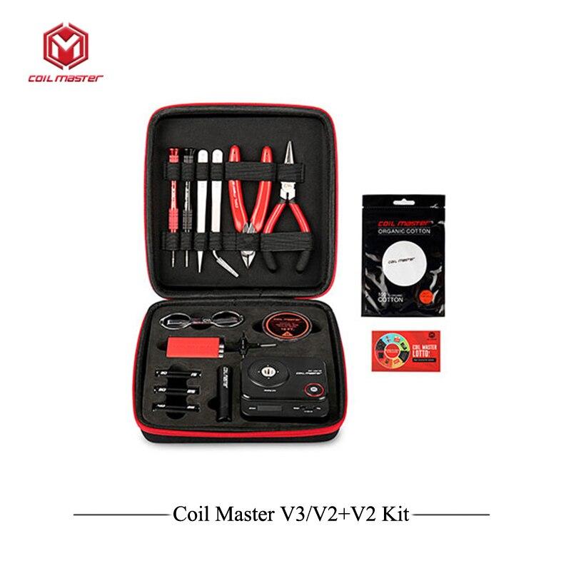Kit de bricolaje V3 Maestro de bobina de actualización todo en uno CoilMaster V3 + cigarrillo electrónico RDA atomizador bobina bolsa accesorios vapeador