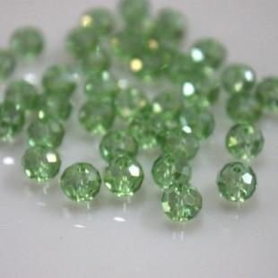 Isywaka разноцветные 4*6 мм 50 шт Австрийские граненые стеклянные бусины Rondelle, круглые бусины для изготовления ювелирных изделий - Цвет: Light Green