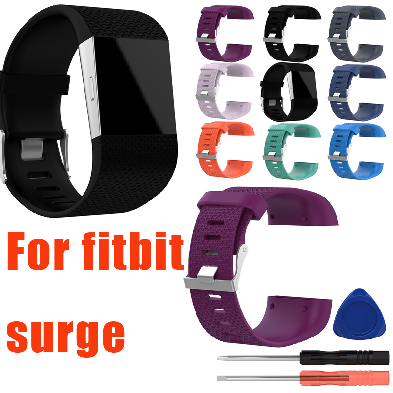 Silicone Replacement Watch Wrist Strap Band For Fitbit Surge Watch Band Bracelet Smart Wrist Bands With Screwdriver Accessory fitbit watch