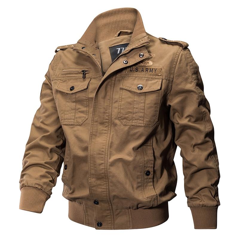 HTB1uXvBmYSYBuNjSspfq6AZCpXaF 2018 Plus Size Military Jacket Men Spring Autumn Cotton Pilot Jacket Coat Army Men's Bomber Jackets Cargo Flight Jacket Male 6XL