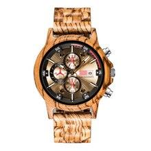 QW Hot Selling Bamboo Brand Chronograph Wholesale Custom Men