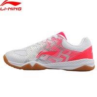 Li Ning 2018 Для Женщин Эволюция Обувь для настольного тенниса Сборная модель дышащий Li Ning спортивная обувь переносные кроссовки APPM004