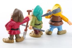 Image 5 - 8 Pz/set Biancaneve e i Sette Nani Action Figure Giocattoli 6 10 centimetri Principessa PVC bambole giocattoli di raccolta per i bambini regalo di compleanno