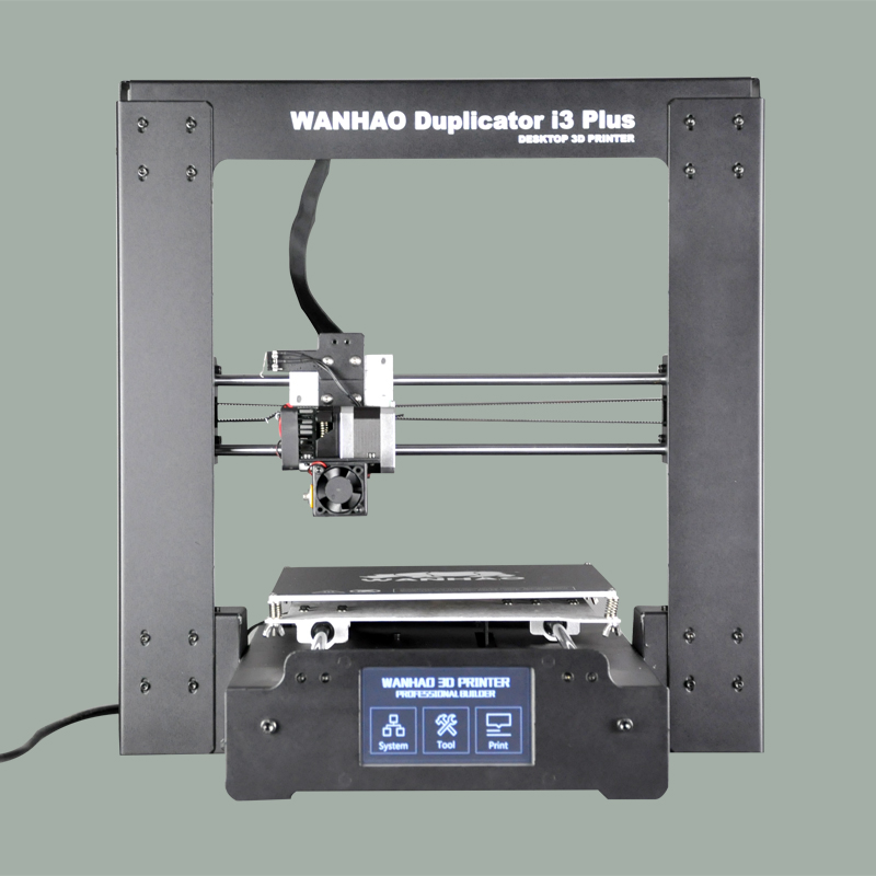 2017 new version hot sell WANHAO I3 PLUS 3d printer, mental frame , affordble 3d printer with filaments and LCD hot sale wanhao d4s 3d printer dual extruder with multicolor material in high precision with lcd and free filaments sd card