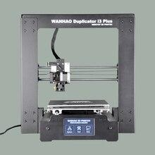 2017 новая версия горячее надувательство wanhao i3 плюс 3d-принтер, психического рамки, affordble 3d-принтер с нитями и ЖК-