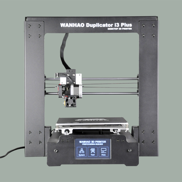 2017 new version hot sell WANHAO I3 PLUS 3d printer, mental frame , affordble 3d printer with filaments and LCD
