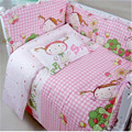 5 pcs/set Cotton Baby Bedding Set baby bedclothes Cot bed Sheet Cartoon crib bedding set include pillow bumpers mattress sabanas