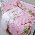5 unids/set Algodón Bebé Juego de Cama Hoja de ropa de cama de bebé Cuna cama cuna De Dibujos Animados juego de cama incluye sabanas almohada bumpers colchón