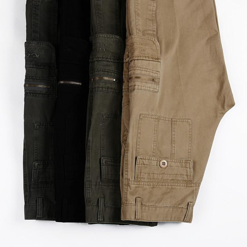 2017 Moda Militar Pantalones de Carga de Los Hombres Flojos - Ropa de hombre