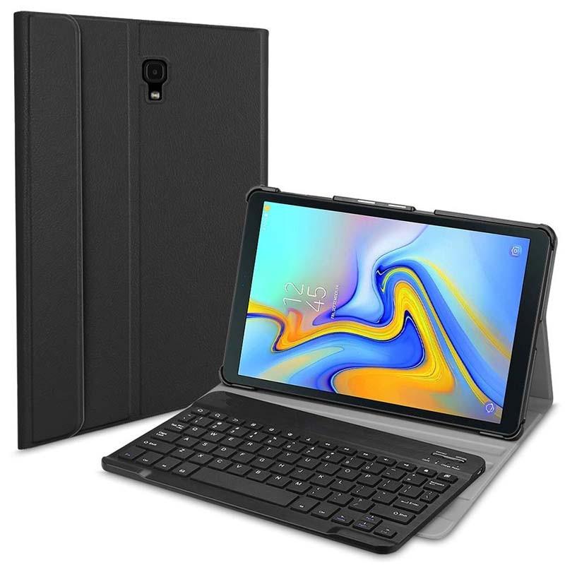 Coque mince coque légère avec clavier Bluetooth sans fil amovible pour Samsung Galaxy Tab A 10.5 2018 SM-T590/T595