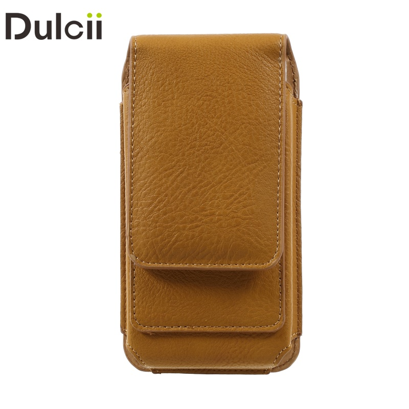 For iPhone 7 6s 6 Universal Pouch Elephant Texture Vertical PU Leather Holster Cover with 2 Card Slots, Inner Size: 14.5x7x1cm