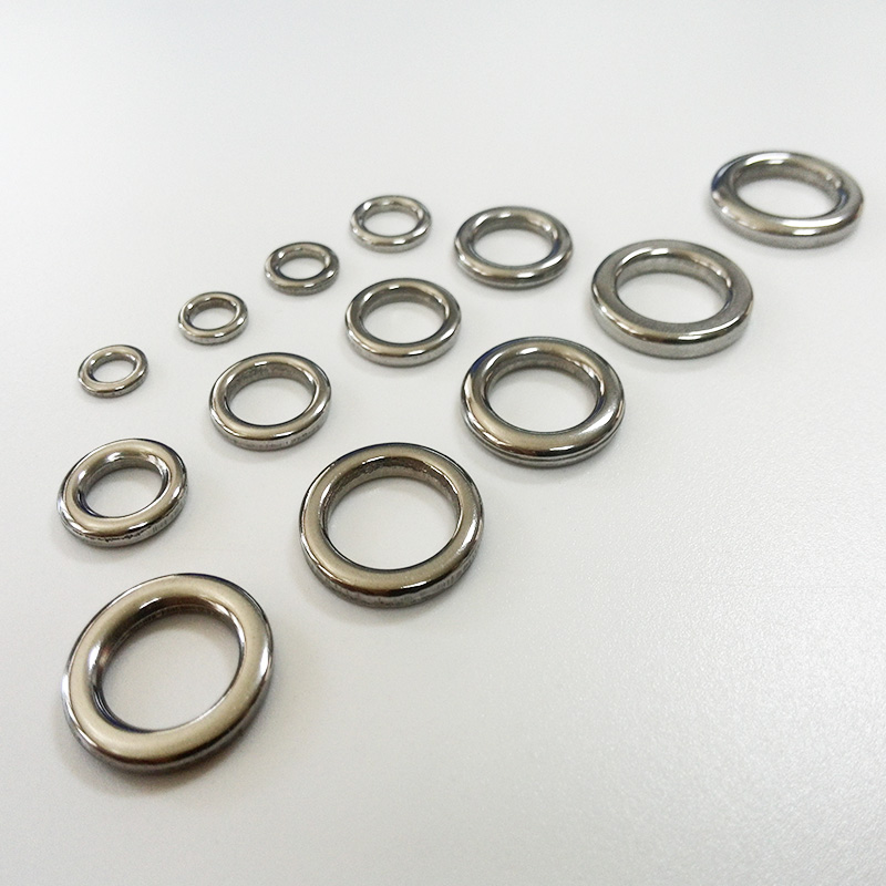 2019 Fishing Solid Ring Jigging Fishing Accessories High Quality Pure 304 Stainless Steel Very Large Test 100pcs/lot