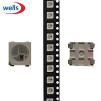 Led 50 1000 pces ws2812b (4 pinos) chip tira componentes rgb 5050 branco versão ws2812 individualmente endereçável digital pixel dc5v|led white chip|pixel led 5050|pixels led digital -