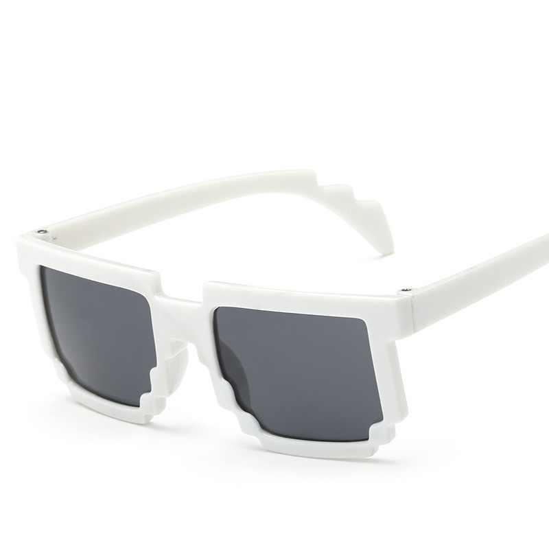 5 kolorów! Modne okulary przeciwsłoneczne dla dzieci cos play action zabawki do gier kwadratowe okulary z pokrowiec eva prezenty dla chłopca