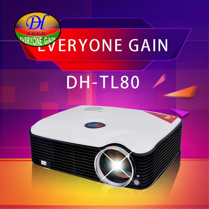 Everyone Gain TL80 2400Lumens HDMI USB LCD Mini Video Portable Beamer TV HD Game Multimedia Player