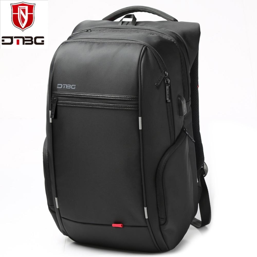 DTBG 17.3 Inch Laptop Backpack with USB Port Nylon Water-Resistant Work Laptop Rucksack College Shoulder BackPack Travel Bag