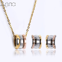 A&N New Fashion Women Jewelry Sets Rose Gold Silver High Quality Noble Stainless Steel Jewelry Sets For Women Female Never Fade