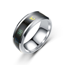 Aiboduo Fashion Men's Black Titanium Ring Matte Finished Classic Engagement Jewelry For Women 8mm Wedding Bands R00006