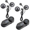 BT Bluetooth Intercom Interphone Fone de Ouvido com FM para Intergral/Full-face/Meia-face/Virar para cima Capacete de moto