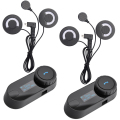 BT Bluetooth Intercom Interphone Headset with FM for Intergral / Full-face / Half-face /  Flip up Motocycle Helmet