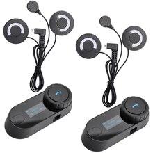 BT Bluetooth Intercomunicador Del Auricular del Interphone con FM para Intergral/de cara Completa/Media cara/levante Casco de moto
