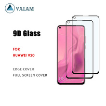 VALAM Tempered Glass Screen Protector For Huawei Honor V20 9H Hardness honor  Full Cover 3D Curved Edge