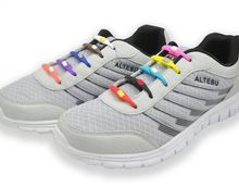6Pc/Set  no tie waxed lazy adults kids shoes laces   No Tie Shoelaces Elastic Silicone Shoe Lace All Sneakers Fit Strap Cordones