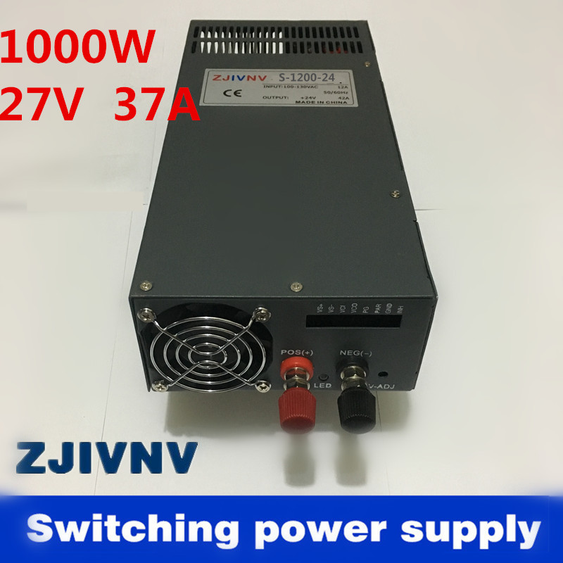 цена на Best quality 27V 37A 1000W Switching Power Supply Driver for CCTV camera LED Strip AC 110v or 220V Input to DC 27V (SCN-1000-27)